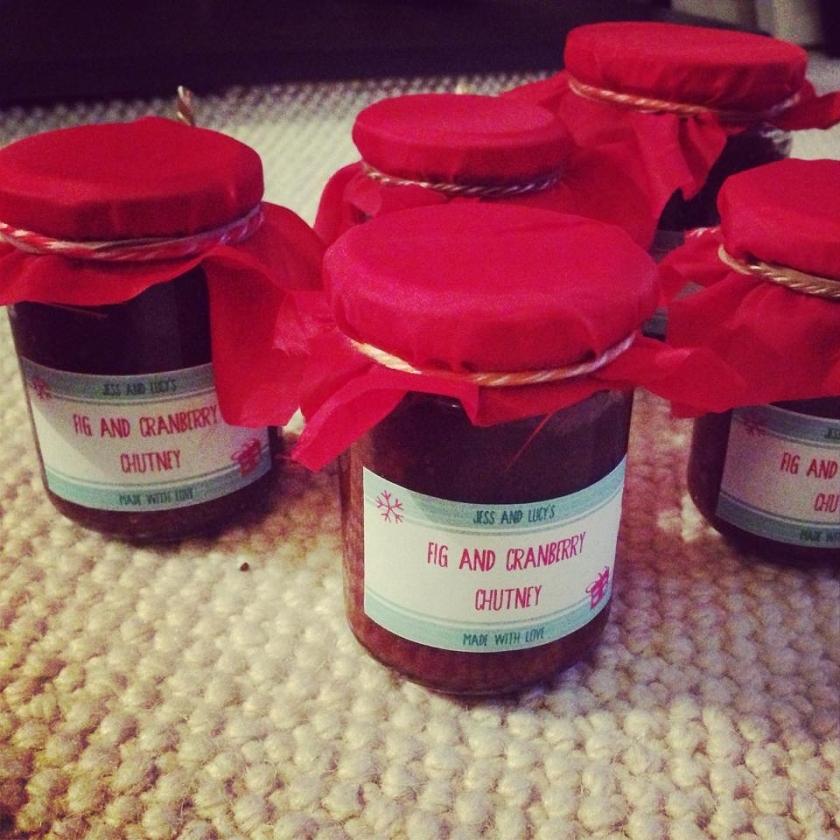 Fig & Cranberry chutney